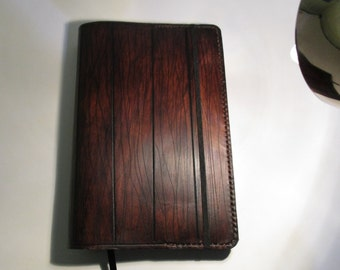 Personalized Leather Journal With A Wood Appearance. Writing Journal