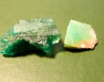 Two Emerald Gem Quality Specimens Study Display (E293)
