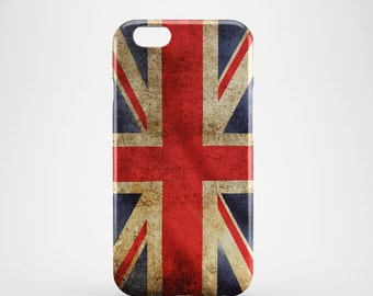 Weathered Union Jack Phone case,  iPhone X Case, iPhone 8 case,  iPhone 6s,  iPhone 7 Plus, IPhone SE, Galaxy S8 case, Phone cover, SS145a