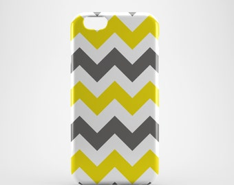 Yellow & White Chevron Phone case,  iPhone X Case, iPhone 8 case,  iPhone 6s,  iPhone 7 Plus, IPhone SE, Galaxy S8 case, Phone cover, SS130a