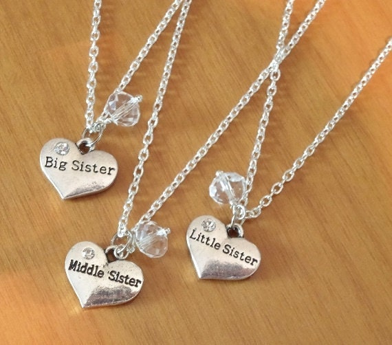 items similar to big sister necklace middle sister