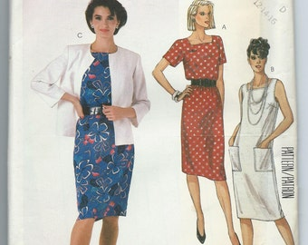 McCalll's 2356 Straight Dress and Unlined Jacket