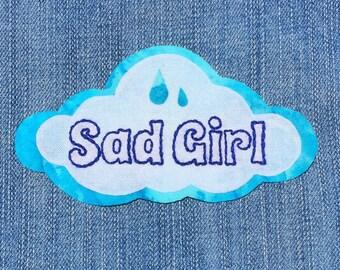 """Lana Del Rey Inspired """"Sad Girl"""" Cloud Pin"""