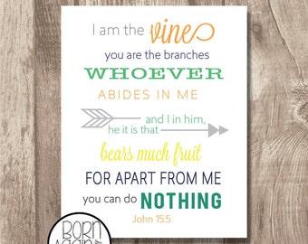 Printable Bible Verse John 15:5