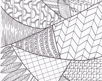 Printable Coloring Page  Zen Inspired Handmade.
