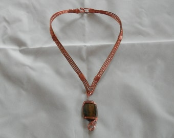 Necklace Copper Collar and Pendent