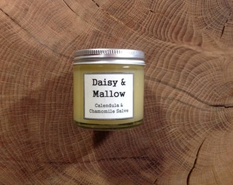 Calendula & Chamomile Salve - 30ml -sesame oil -sweet almond-oil of evening primrose-calendua - cocoa butter- beeswax -chamomile - geranium