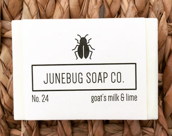Goat's Milk & Lime Bar Soap - Natural Soap, Lime Soap, Goat Milk Soap, Handmade Soap, Citrus Soap,  Bar Soap, Paraben Free, Sulfate Free