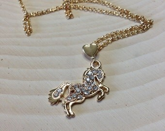 Pony Love Gold Necklace