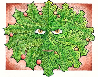 Green Man, Celtic Knot Work