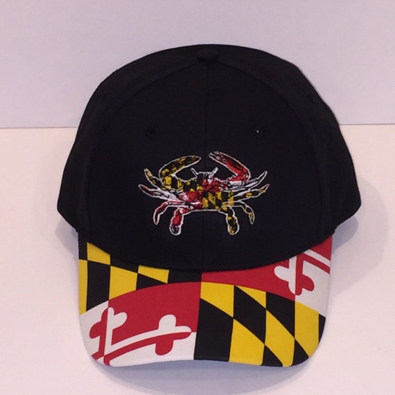 Maryland Flag Hat With md Crab