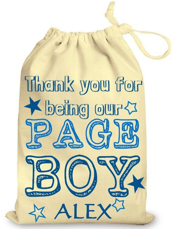 Personalised Wedding Gift Bags Uk : Drawstring Cotton Gift Bag Page Boy Gift Bag, Personalised Wedding Bag ...