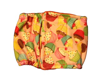 Waterproof Dog Belly Band - Cupcakes Premium Fully Waterproof PUL Washable Male Dog Diaper