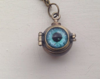 Steampunk Eye Locket Necklace