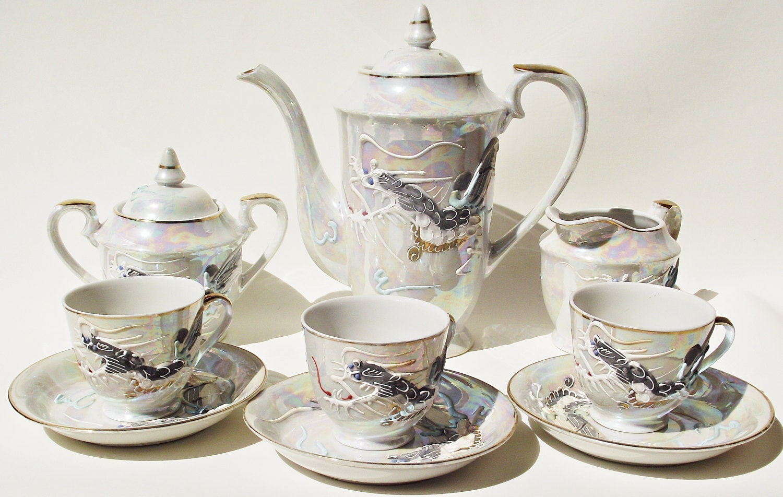 Antique Japanese Tea Set Japanese Tea Set Mtk