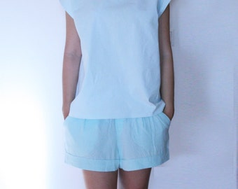 Pastel Sleeveless Top with Back Details