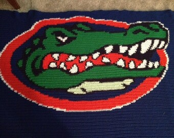 Florida Gatorhead Lapghan Digital Crochet Pattern