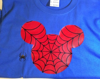 Custom Spiderman Mickey Mouse shirt