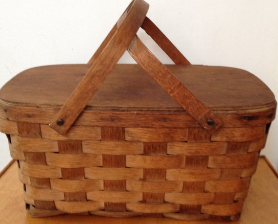 Vintage Wooden Picnic Baskets