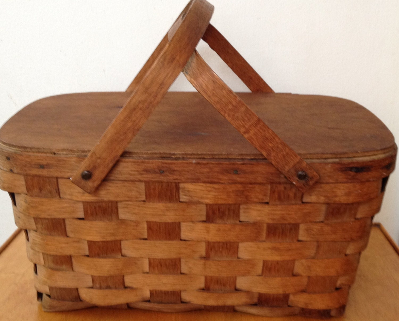 Vintage Wooden Picnic Baskets