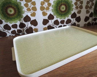 Vintage 60s Yellow Tray