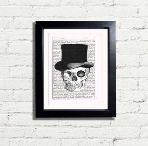 Skull Hat Skull Skeleton With Top Hat