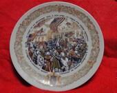 from FranceLA FETE du Reteur Triomphal A84 Georhe Zaferes Porcelaine Plate