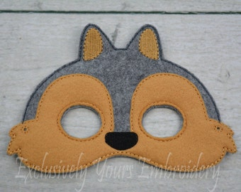 Squirrel Children's Mask  - Costume - Theater - Dress Up - Halloween - Face Mask - Pretend Play - Party Favor