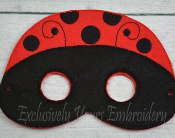Ladybug Children's Mask  - Costume - Theater - Dress Up - Halloween - Face Mask - Pretend Play - Party Favor