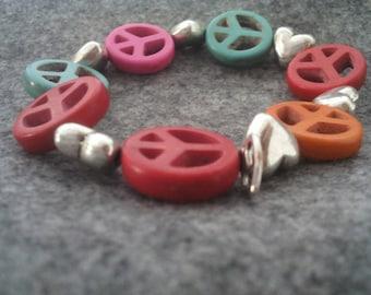 Little girl bracelet love & peace