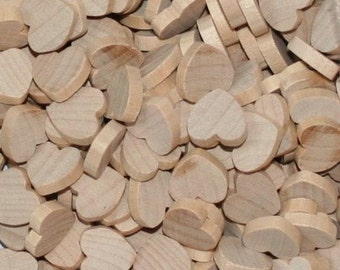 """Unfinished Wood Hearts 1/2"""" x 1/8"""""""