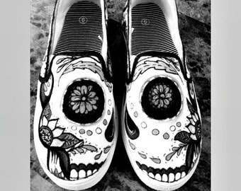 Custom Sugar Skull Shoes!