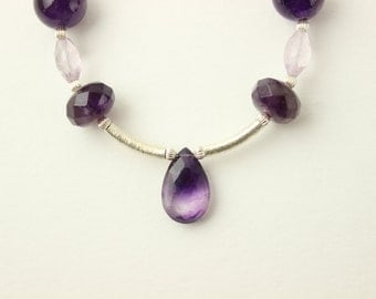 One of a kind - Amethyst and Sterling silver necklace