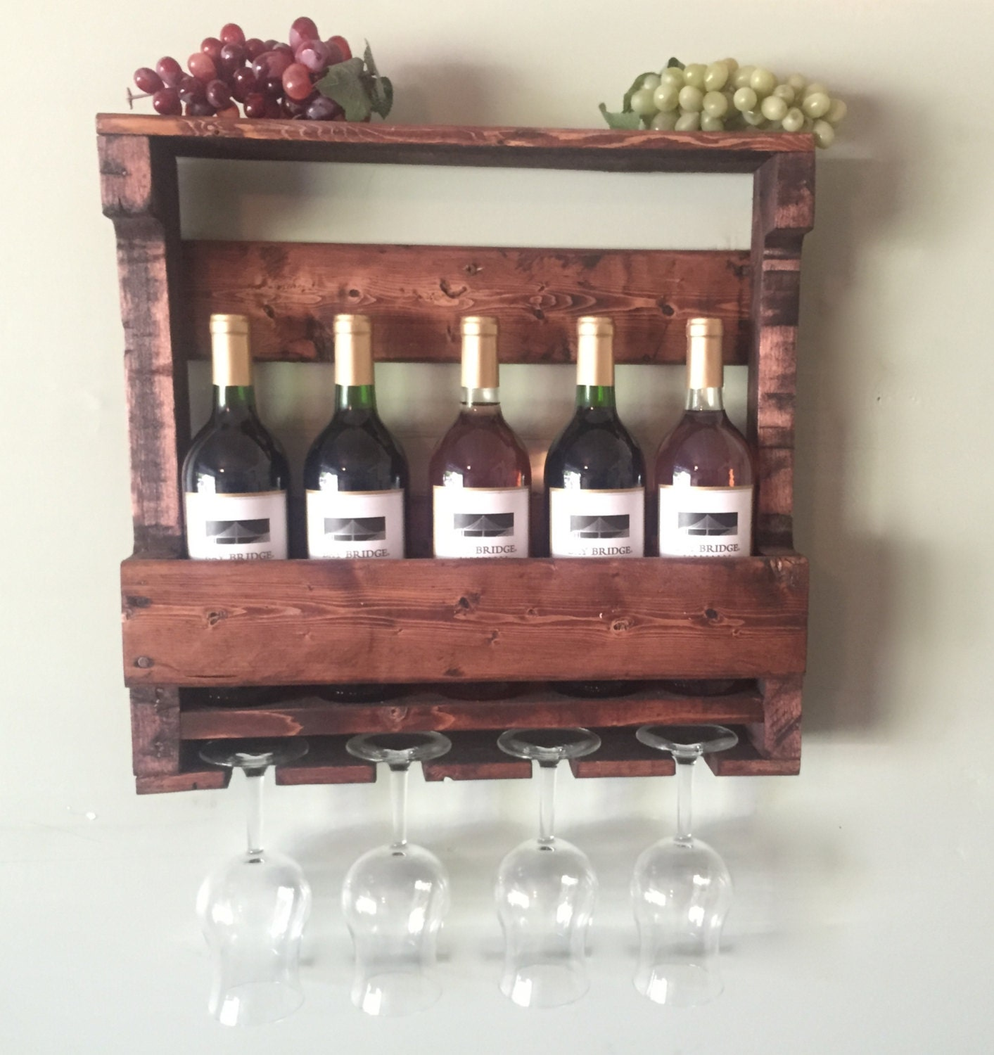 Rustic Wooden Wine Rack Gifts For Him Rustic By
