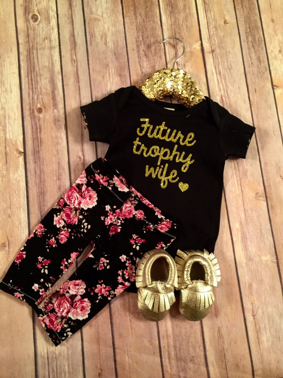 baby girl clothes future trophy wife by oliveroliviaapparel, Baby shower