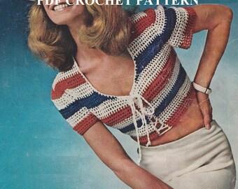 Vintage 1970'S Stripes Tank Top, Crochet PDF Pattern