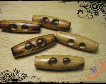 5 buttons toggles wood mm.40