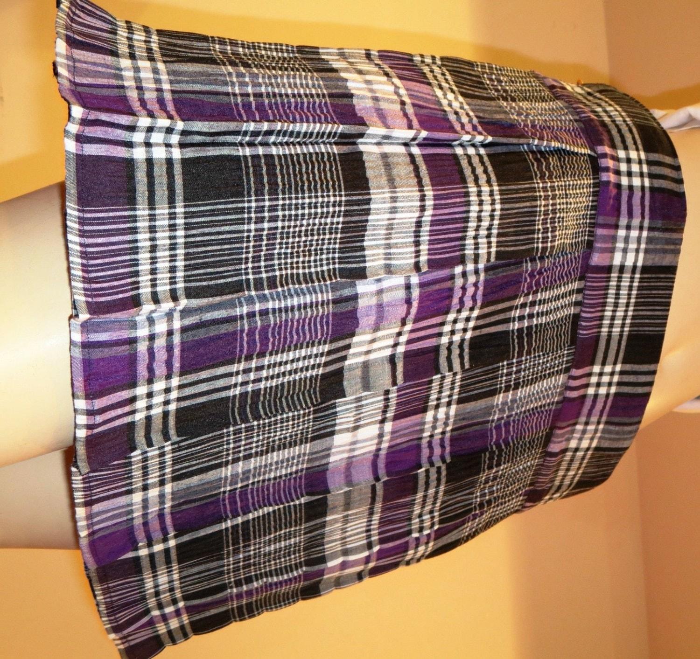 purple plaid pleated skirtsmall to 6x sizes availablepurple