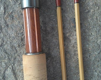 "Bamboo FlyRod 6'6"" #3 line wt,2 piece with 2 tips."