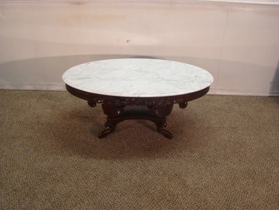 Kimball Victorian Style Marble Top Coffee Table
