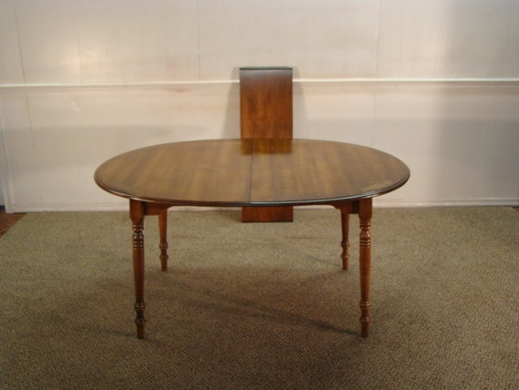 Items Similar To Hitchcock Solid Maple Dining Table On Etsy