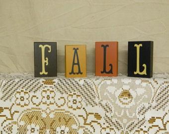Set Of Fall Blocks