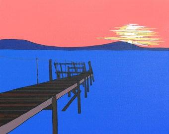 Sunset at Holywood (Print)