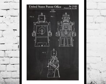 Toy Robot Patent, Toy Robot Poster, Toy Robot Print, Toy Robot Decor, Toy Robot Art, Toy Robot Blueprint, Toy Robot Wall Art