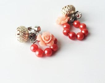 Peachy Rose Earrings