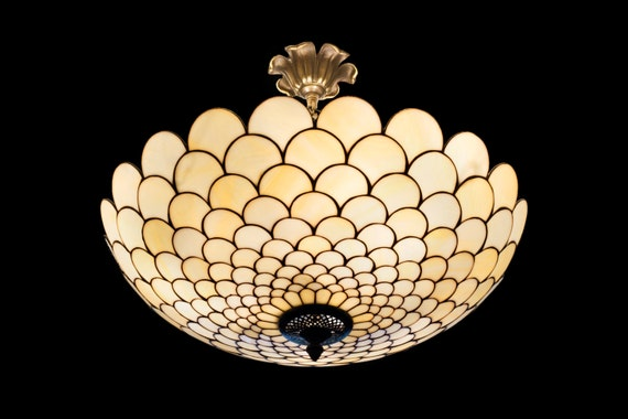 tiffany plafond ceiling lamp stained glass by. Black Bedroom Furniture Sets. Home Design Ideas