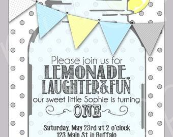 Lemonade Birthday Invitation - Printable File