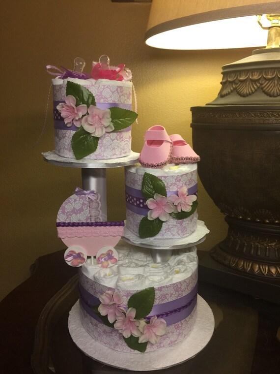 baby girl diaper cake elegant baby girl diaper cake purple and