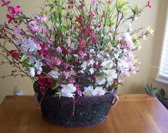 Spring wildflower arrangement