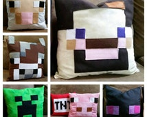 Minecraft Inspired Stuffed Pillows